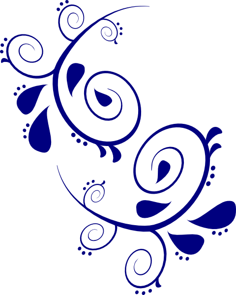 Vector working scroll. Paisley design clipart at