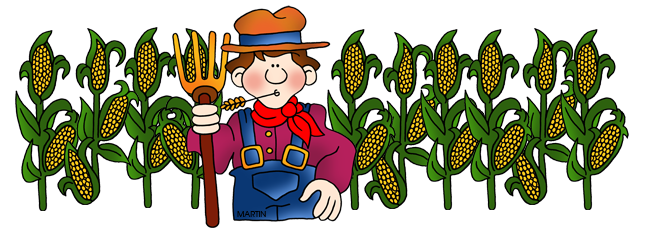 Clipart clipground corn clip. Cornfield drawing wheat field vector free library
