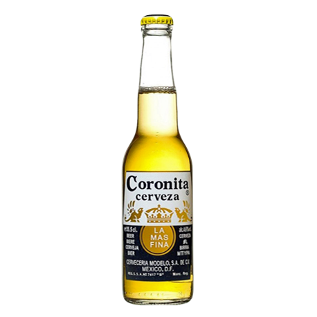 corona transparent 24 oz