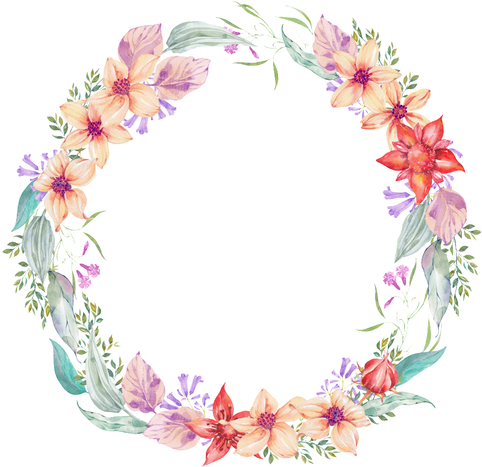 Corona de flores png. Download garland transparent delicate