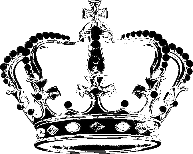 Corona de rey black png. Coronas crowns brushes clipart