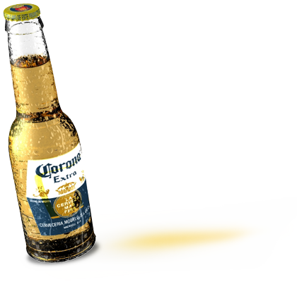 Corona transparent background. Applying alpha channels to