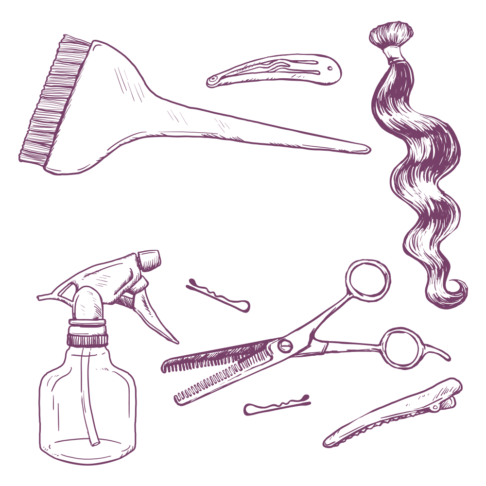 cosmetology drawing supply