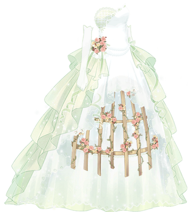 Drawing diary couture dress. Caged bird oc chibis