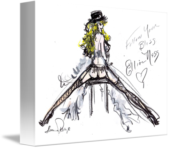 Costume drawing burlesque. Legend by luma rouge