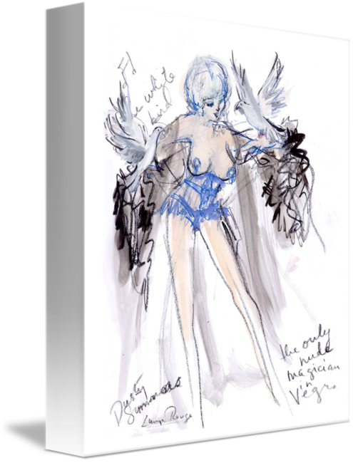 Costume drawing burlesque. Legend dusty summers by