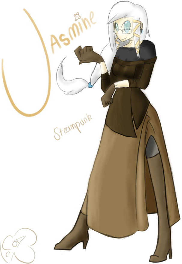 Costume drawing steampunk. Altair attire dress by