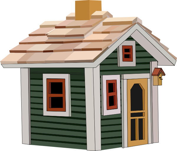 Cottage clipart. Green clip art at