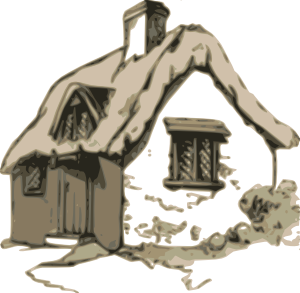 Shack drawing little cabin. Cottage clip art at