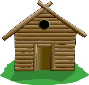 Camping cabin panda free. Cottage clipart campground picture free