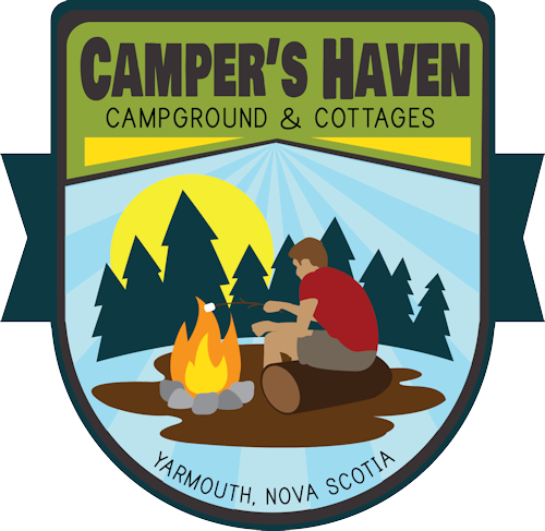 Campers haven cottages yarmouth. Cottage clipart campground svg library download