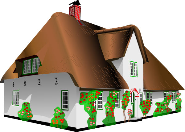Cottage clipart cottage house. Clip art at clker