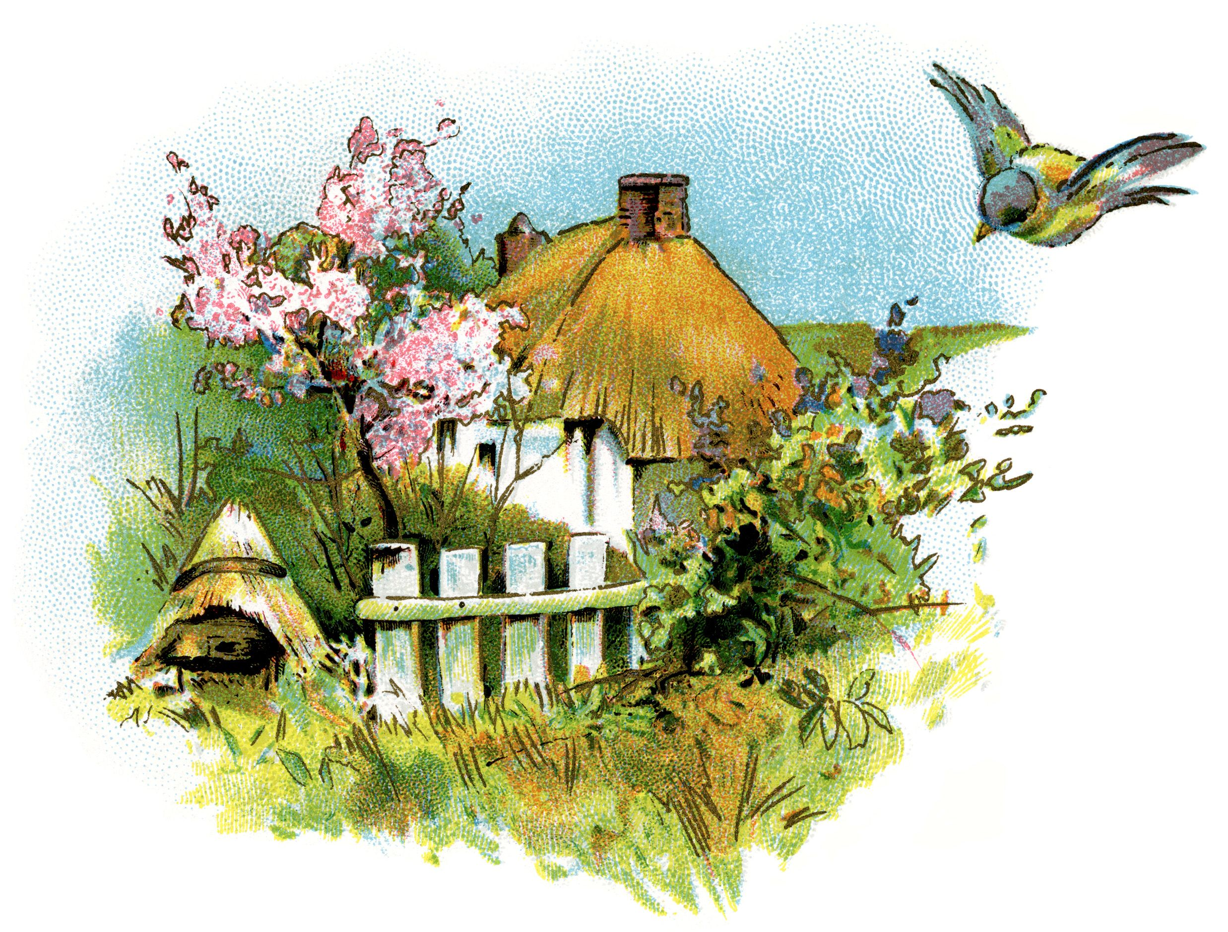 Cottage clipart cottage house. Small country clip art