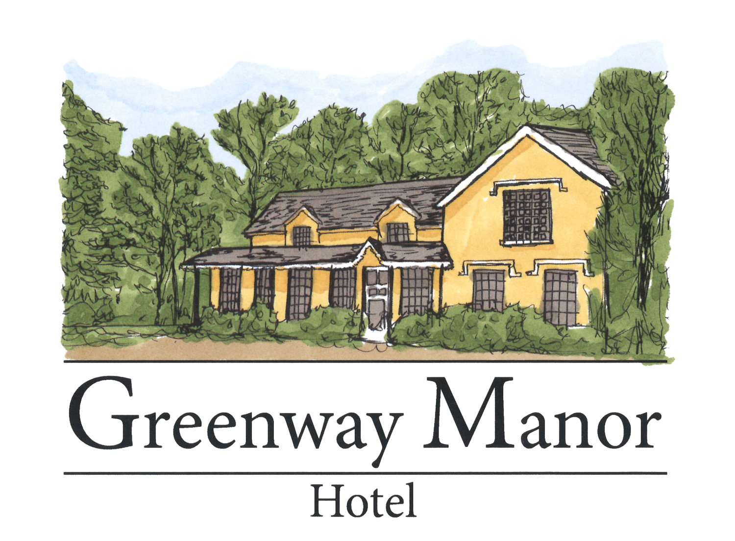 Greenway manor hotel . Cottage clipart frontyard clip art library download