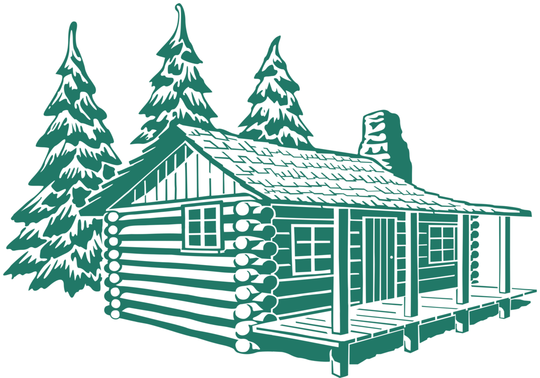 Cottage clipart silhouette. Log cabin drawing house