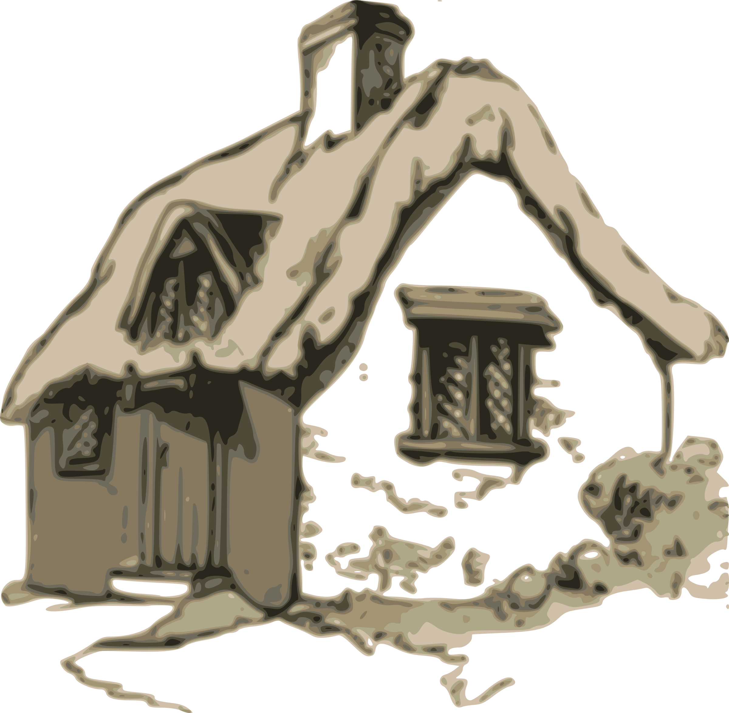 Big image png. Cottage clipart silhouette png free download