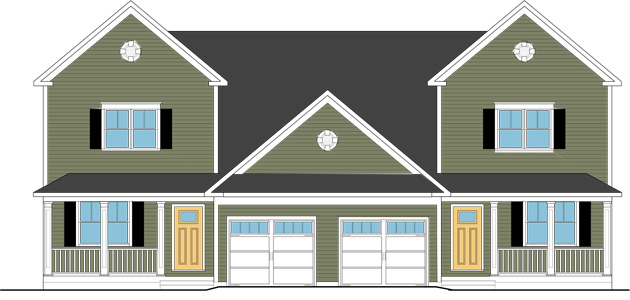 Harborview st albans vermont. Cottage clipart townhouse vector library