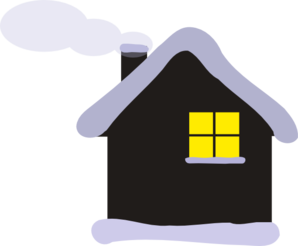 Cottage clipart winter. Clip art at clker