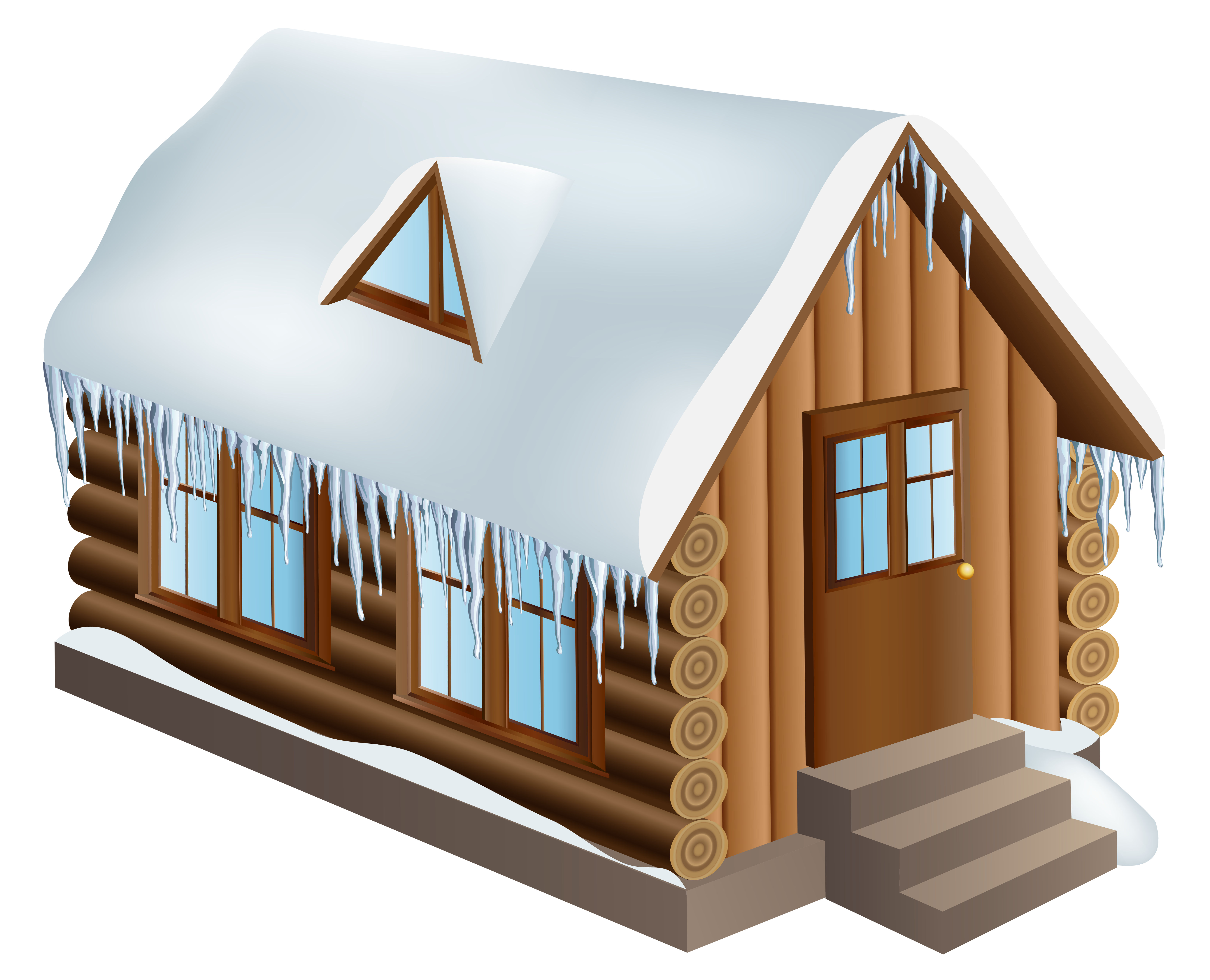 Cabin house png clip. Cottage clipart winter graphic freeuse download
