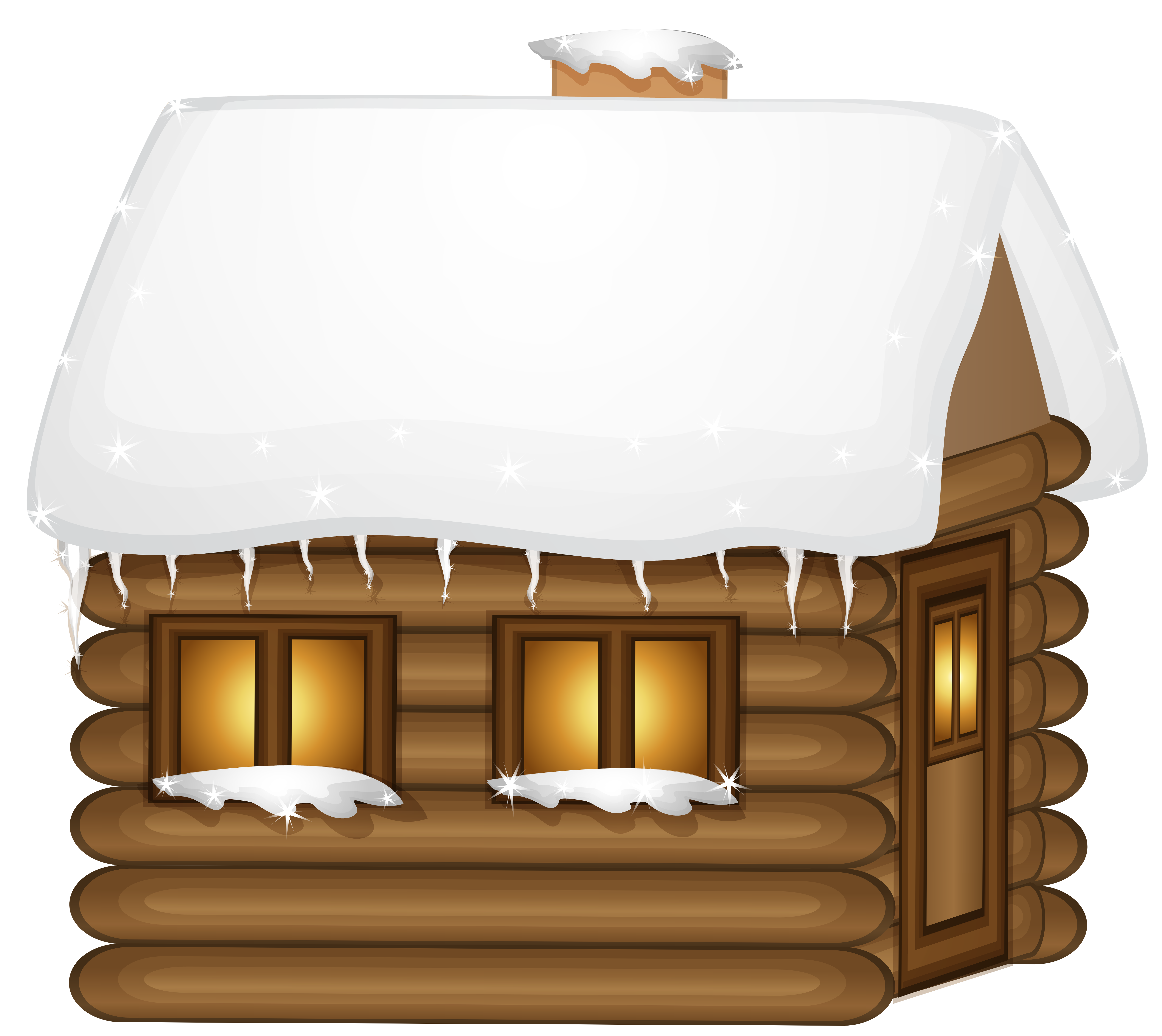 Wooden house png clip. Cottage clipart winter svg library stock