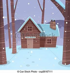 Pencil and in color. Cottage clipart winter graphic royalty free download