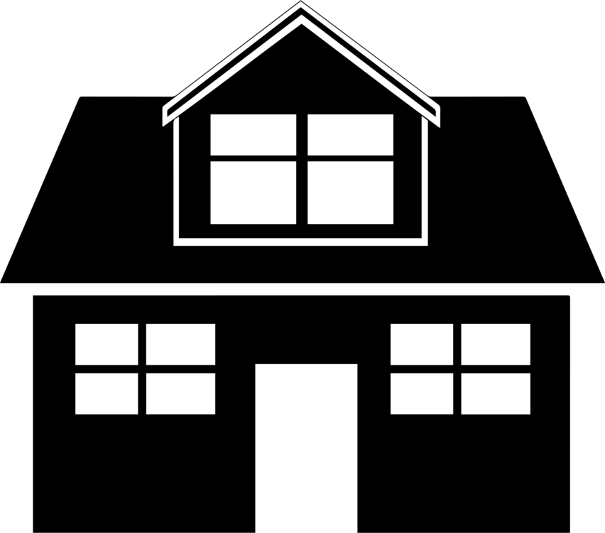 Cottage vector black and white clipart. House drawing download free