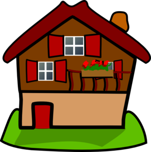 Cottage vector clipart. Cartoon house clip art