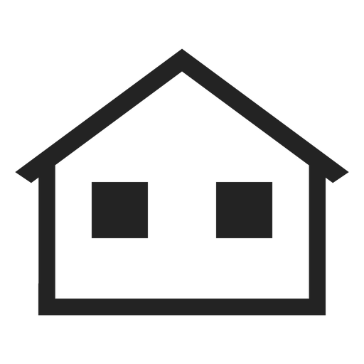 Vector roof line. Home cottage icon transparent
