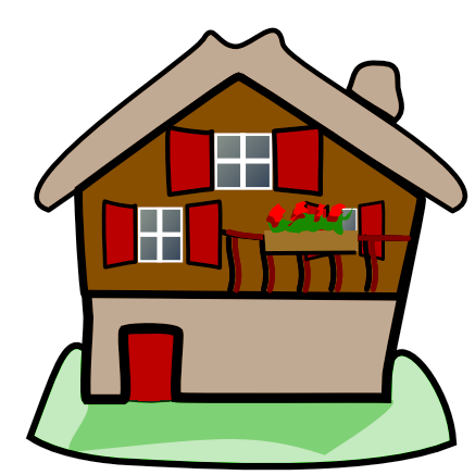 Cottage vector house simple. Collection of free cottaged