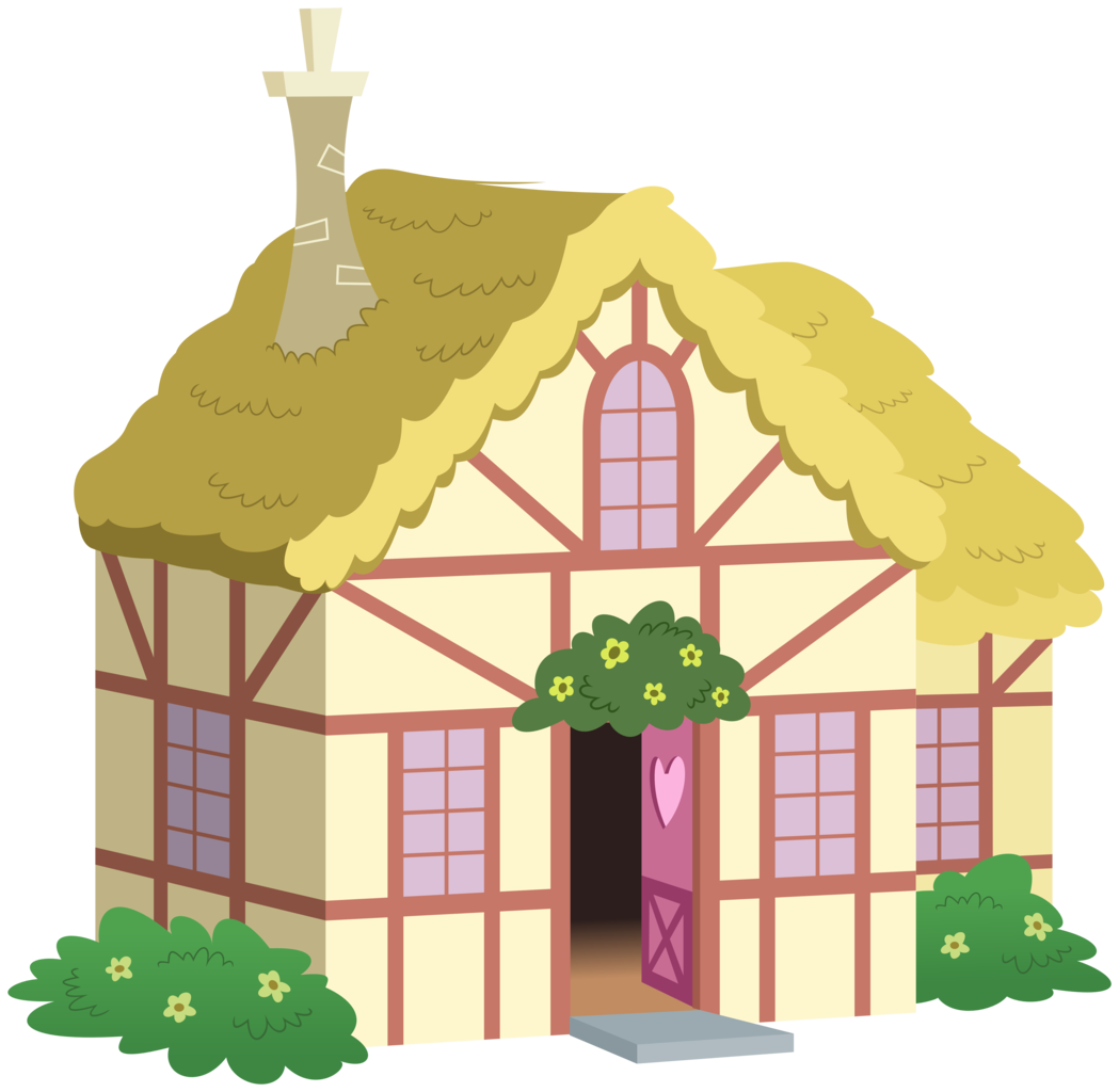 Cottage vector house simple. Artist zutheskunk traces