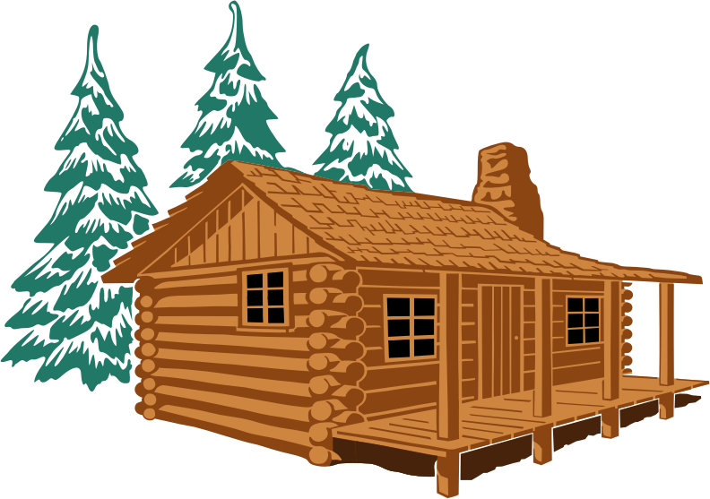 Cottage vector hut. Picture stilt house