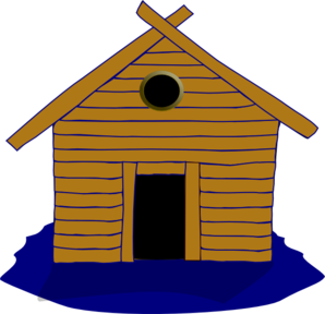 Cottage vector log house. Home and seasonal clip