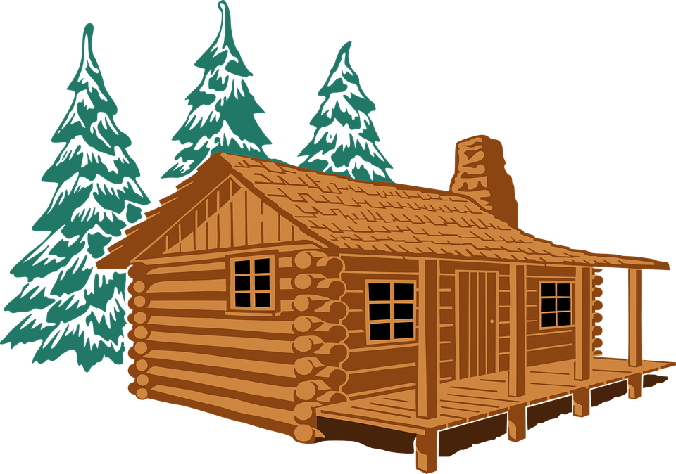 Png free transparent images. Cottage vector mountain cabin jpg black and white