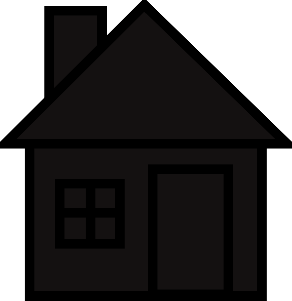 Collection of free housed. Cottage vector silhouette clipart