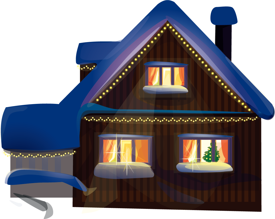 Christmas display resolution high. Cottage vector winter house vector royalty free stock