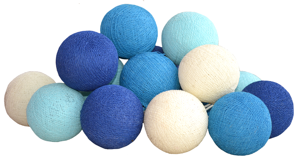Cotton ball png. Light chain in blue