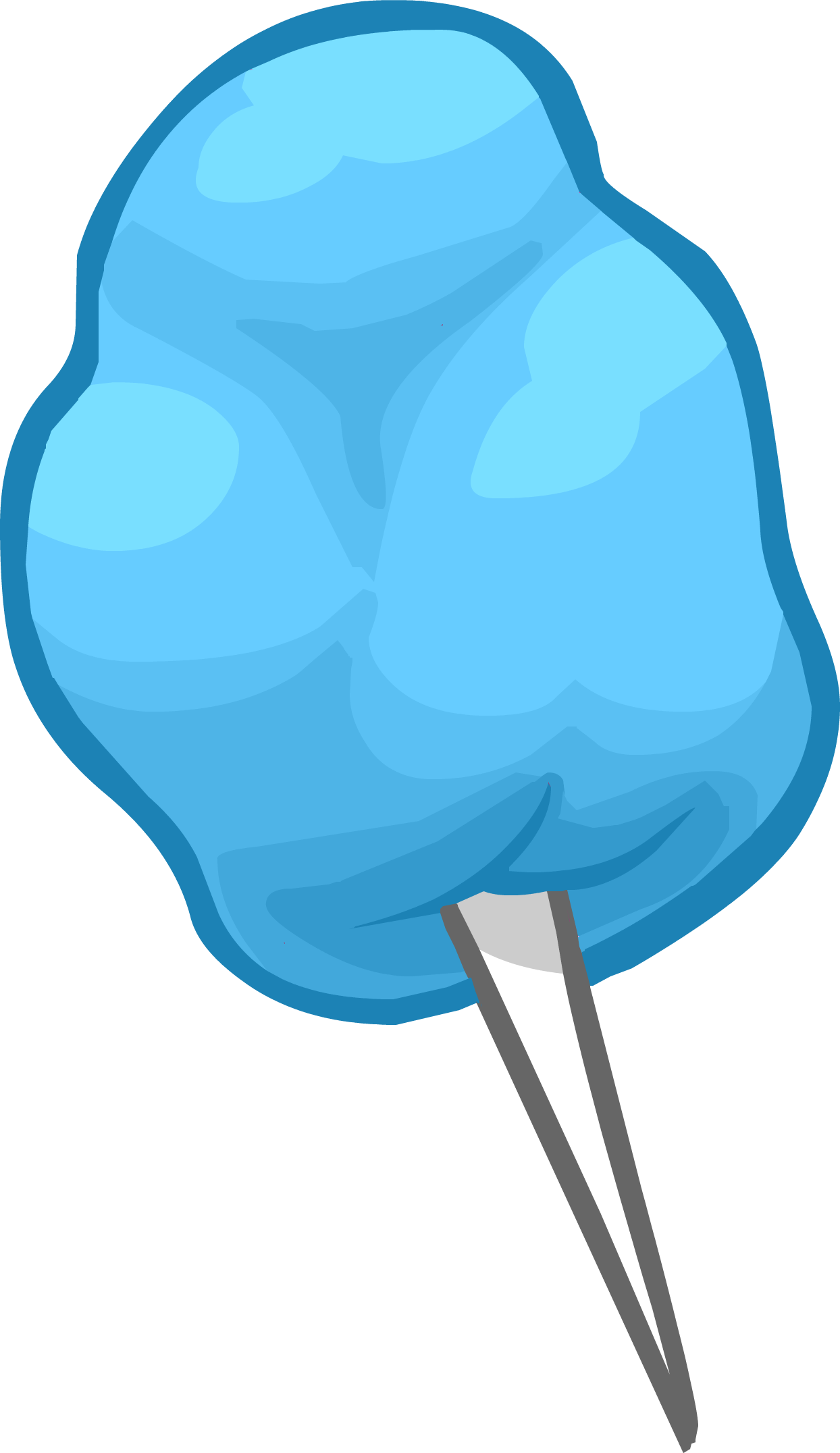 Cotton candy png. Image blue club penguin