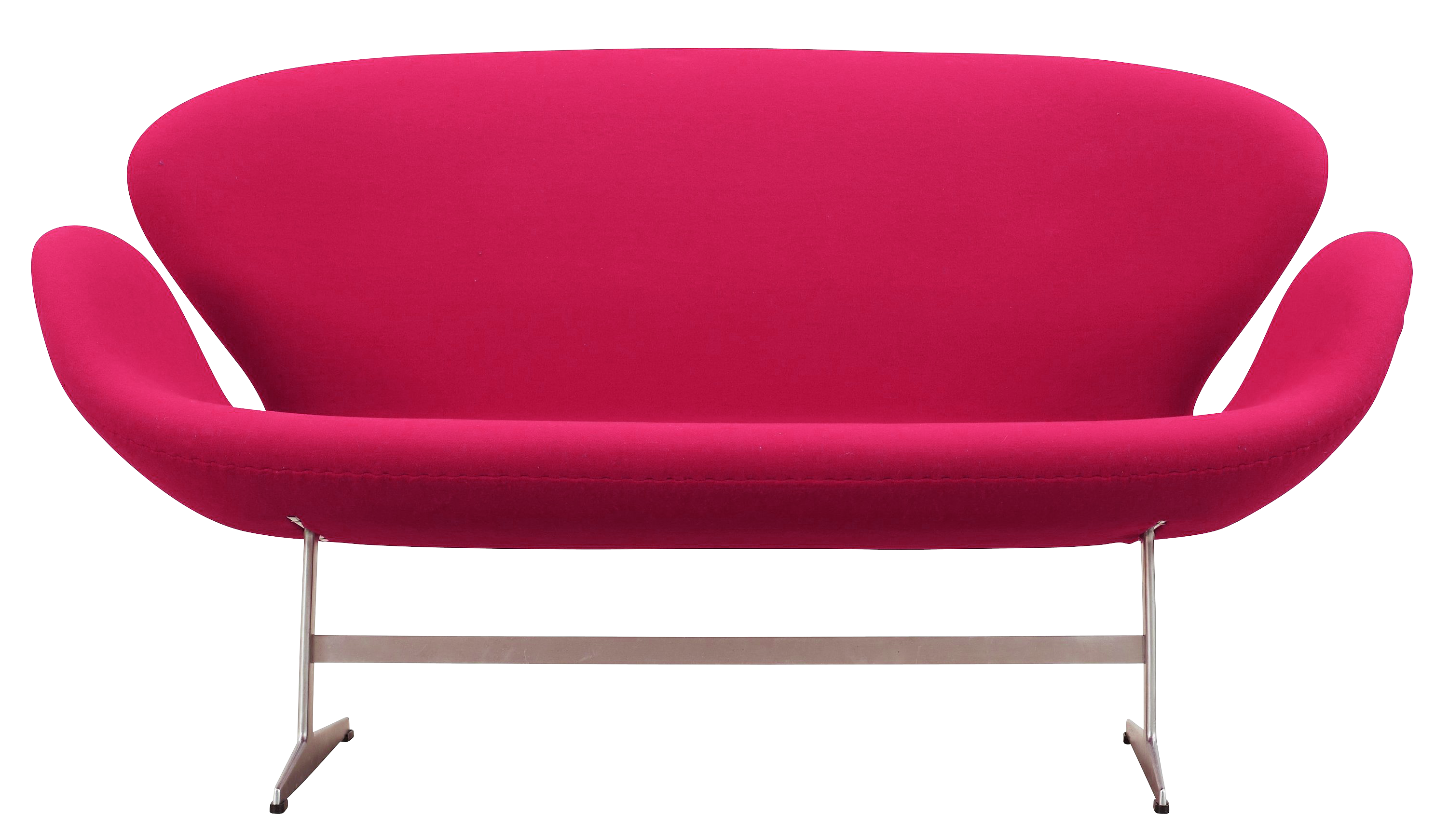 sofa transparent pink