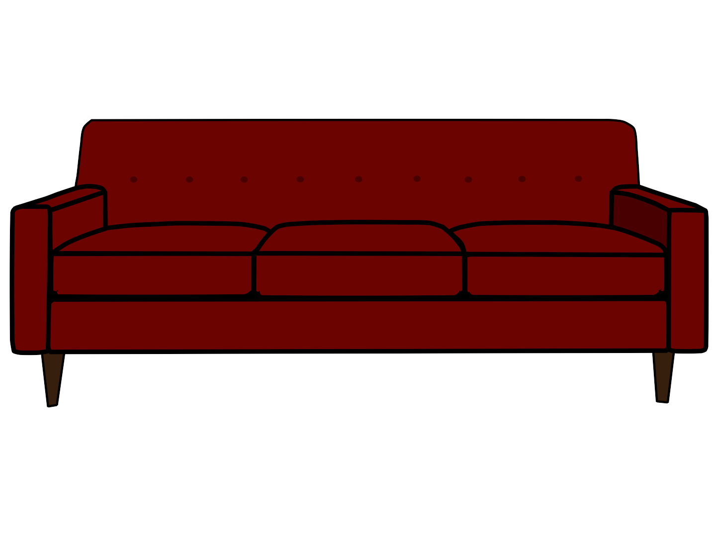 transparent couch clear background