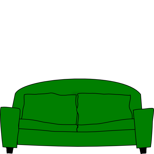 Couch clipart back couch. Sofa clip art at
