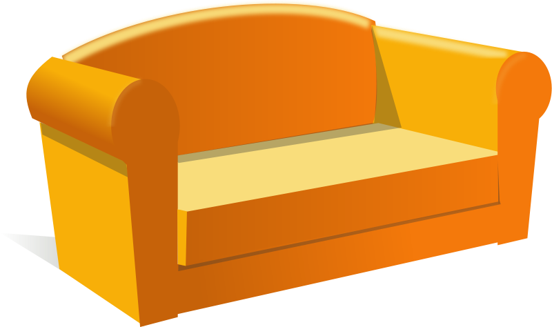 Couch clipart back couch. Of