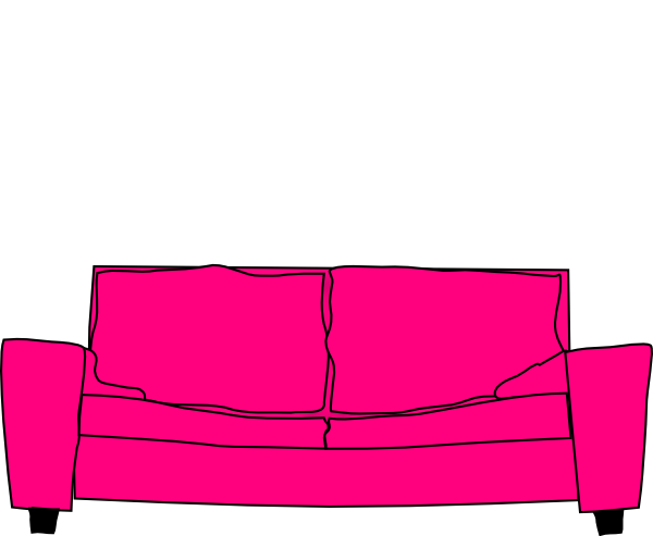 Couch clipart pink couch. Hot home stuff pinterest