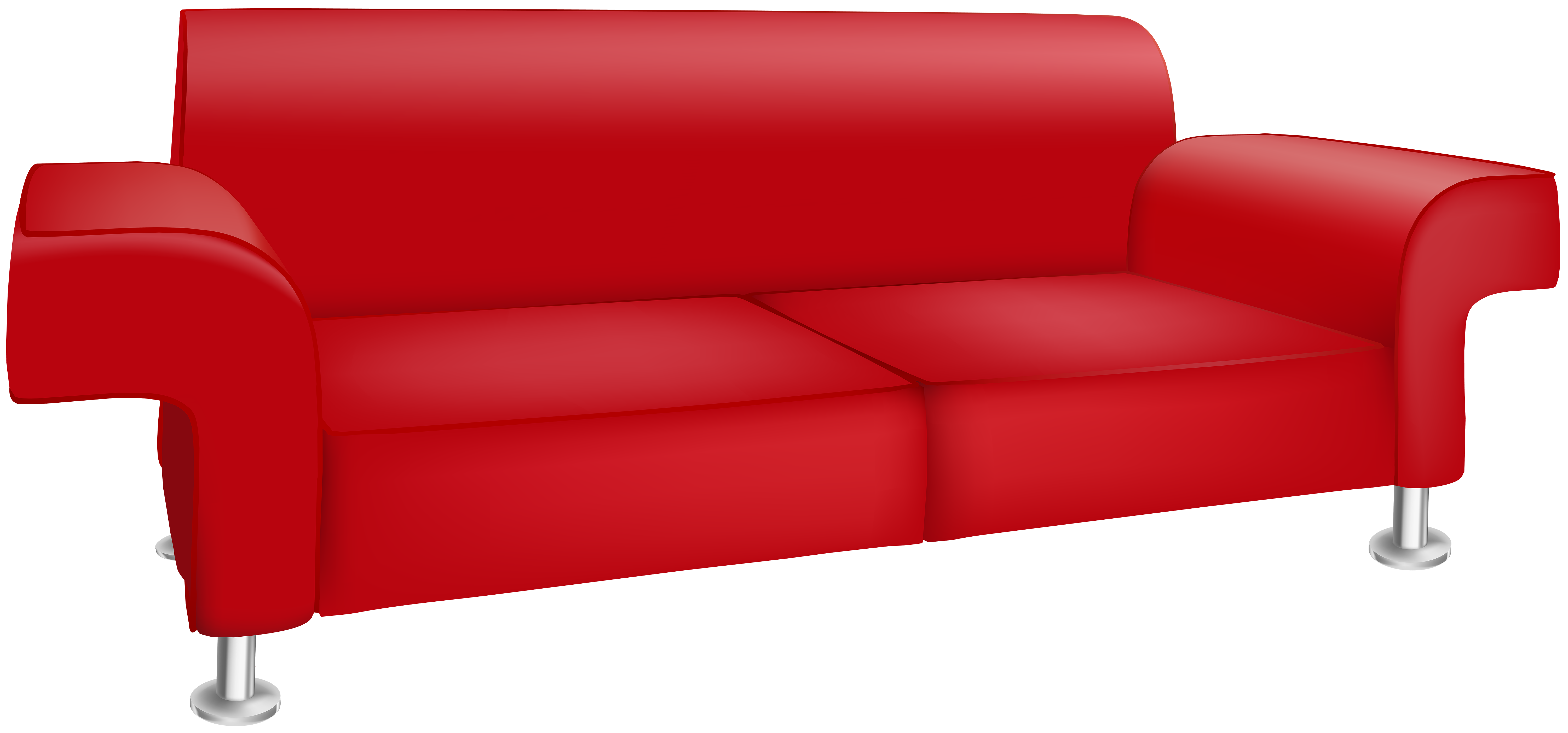 Couch clipart png. Red sofa transparent clip