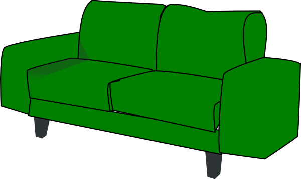Couch clipart sofa. Green clip art at