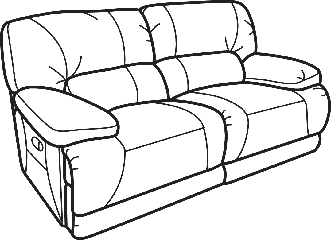 drawing tv couch