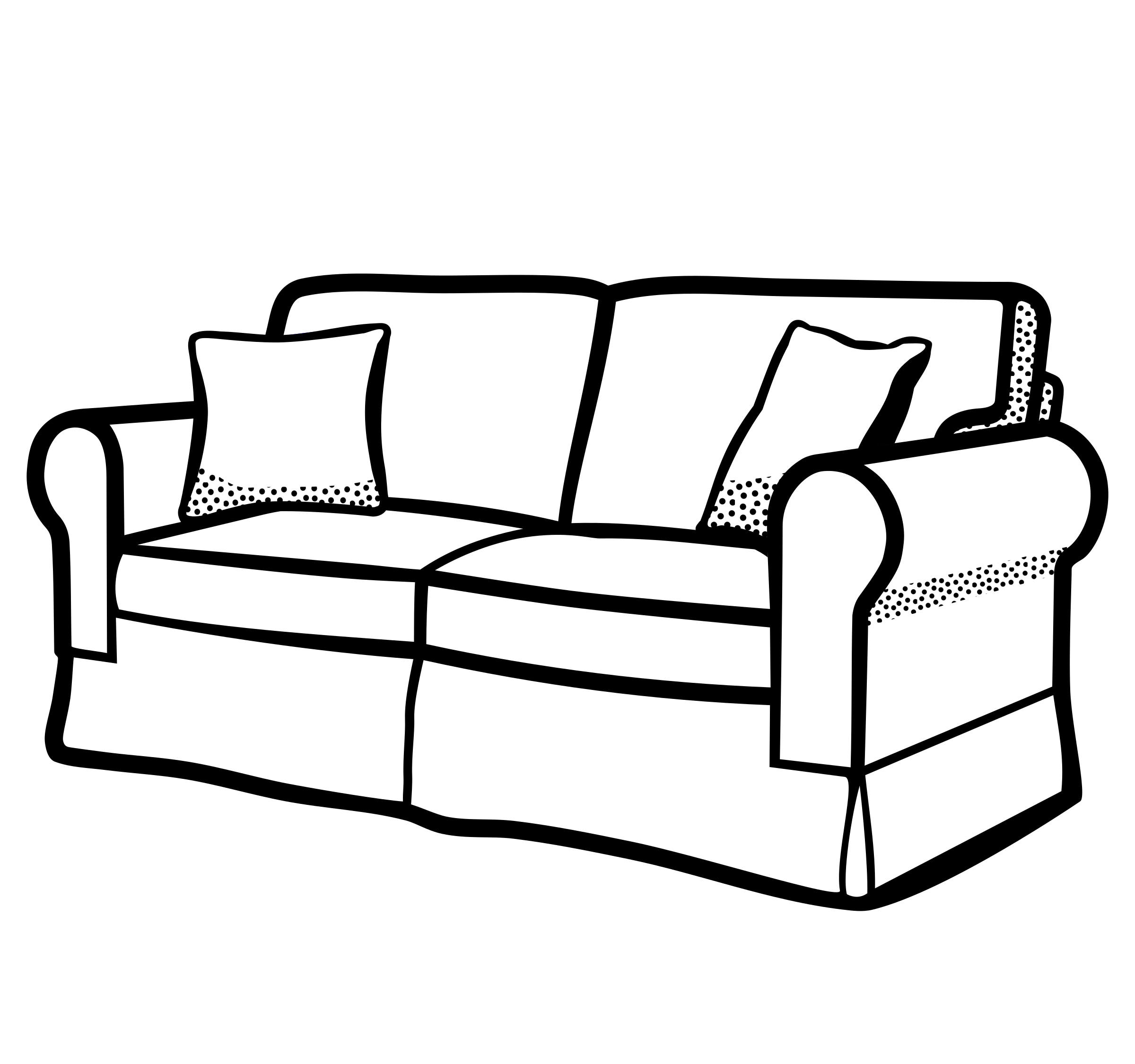 Simple couch at getdrawings. Drawing bed black and white clipart free stock