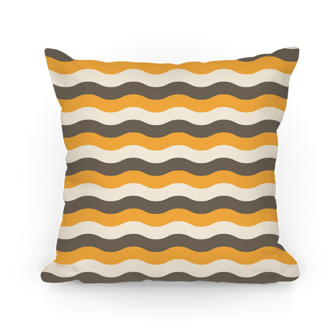 Couch pillow png. Orange cream grey throw