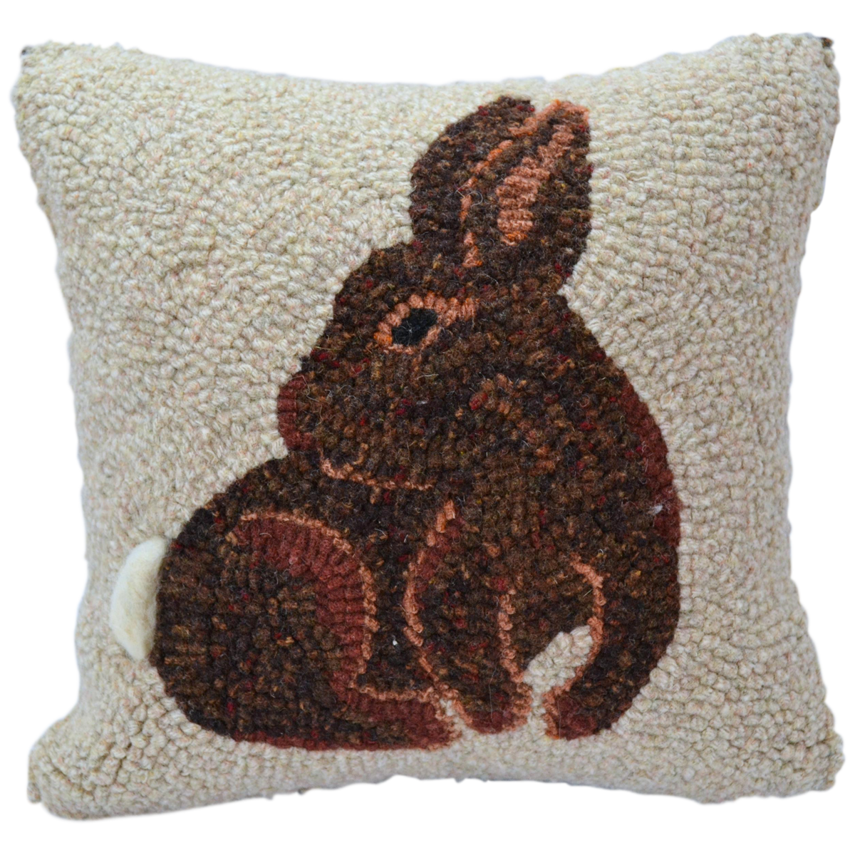 Couch pillow png. Spring rabbit hooked decor