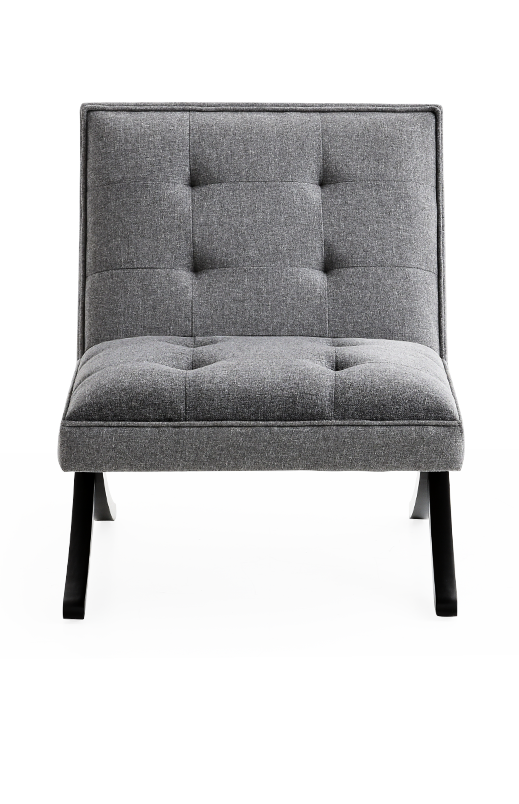 Couch side png. Grey fabric chair brault