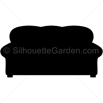 Couch silhouette png.